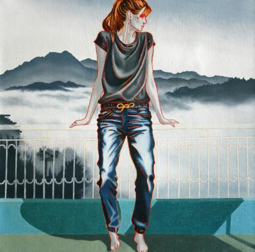 Dolanji II, 45x45, oil on canvas, 2019-