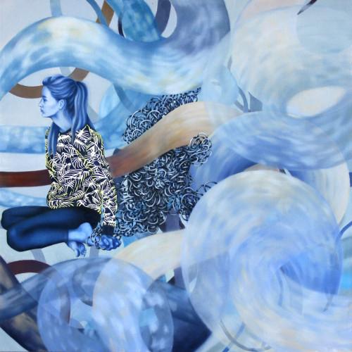Elementale, 100x100, olej na płótnie, 2014-