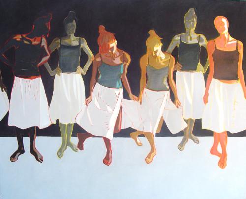 01 Tancerki I 130x160, olej na płótnie, 2006