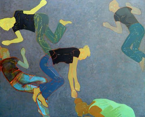 03 Upadki 130x160, olej na płótnie, 2006
