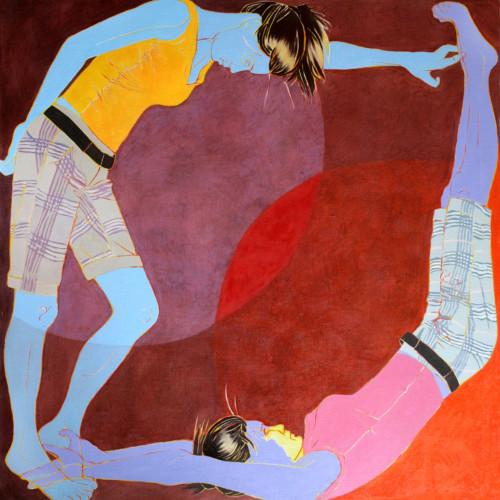 Część wspólna I, 100 x100, olej na płótnie, 2008-+