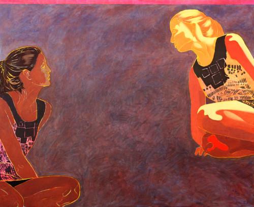 Horyzont, 110x100, olej na płótnie, 2008-+