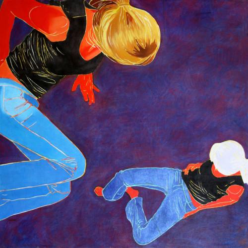 Konfrontacje100 x 100, olej na płótnie, 2008-+