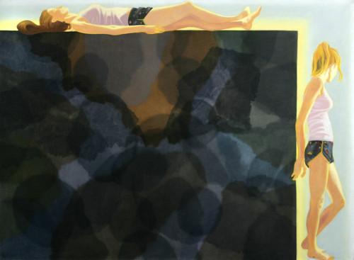 Wielki prostokąt, 110x150, olej na płótnie, 2009-